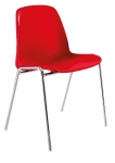 CHAISE COQUE GA102 POLYPROPYLÈNE - ROUGE
