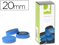 10 AIMANTS RONDS BLEUS ø 20 MM
