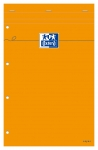 BLOC-NOTES ORANGE PERFORÉ OXFORD - RÉGLURE SEYES