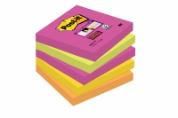 5 BLOCS POST-IT SUPER STICKY - 90 FEUILLES NÉON - 76 x 76 mm