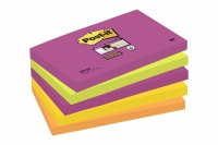 5 BLOCS POST-IT SUPER STICKY - 90 FEUILLES NÉON - 76 x 127 mm