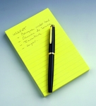 BLOC POST-IT GRAND FORMAT - JAUNE - LIGNÉ - 102 x 152 mm