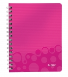CAHIER LEITZ WOW A5 QUADRILLÉ 160 PAGES - ROSE