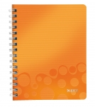 CAHIER LEITZ WOW A5 QUADRILLÉ 160 PAGES - ORANGE