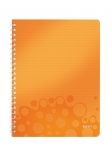 CAHIER LEITZ WOW A4 QUADRILLÉ 160 PAGES - ORANGE