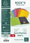 LOT DE 30 SOUS-CHEMISES ROCK'S EXACOMPTA ASSORTIS