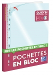 POCHETTE PERFOREE - PP90 - LISSE - OXFORD QUICK'IN - 40 POCHETTES