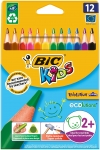 CRAYONS DE COULEUR KIDS EVOLUTION TRIANGLE - ETUI DE 12