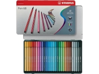 FEUTRE AQUARELLABLE - STABILO - PEN 68 - BOITE METAL DE 30