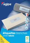 ÉTIQUETTES MULTI-USAGES BLANCHES COINS DROITS - AGIPA - 210 x 148,5 mm