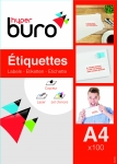 ÉTIQUETTES MULTI-USAGES BLANCHES - HYPERBURO - 105 x 42 mm