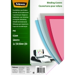 PLAT DE COUVERTURE - FELLOWES - PVC TRANSPARENT A4 200 MICRONS - BOITE DE 100