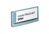 PLAQUE DE SIGNALISATION CLICK SIGN FORMAT TITRE 149 X 52,5 MM DURABLE