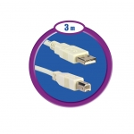 CABLE USB 2.0 AM/BM 3M