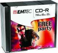 10 CD-R 52x Speed Emtec